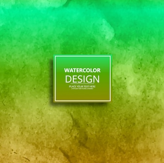 Green and yellow watercolor texture background
