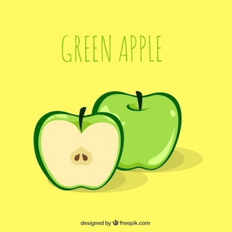 Green apple illustration