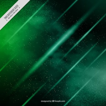 Green Asteroids Background