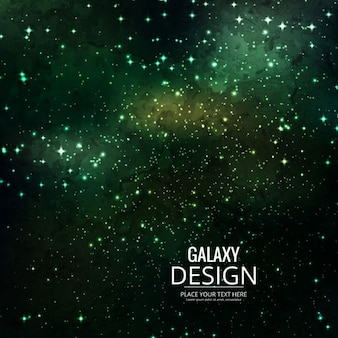 Green background about galaxy