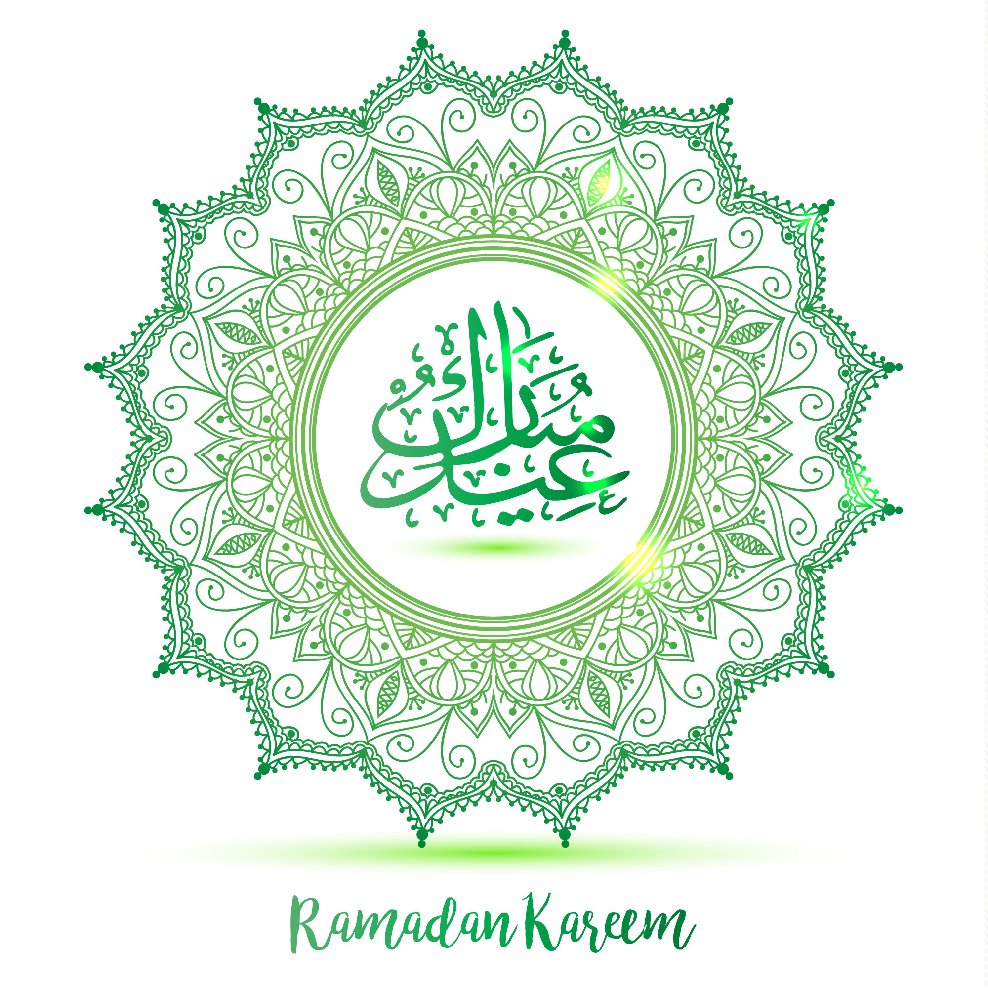 Green background for ramadan