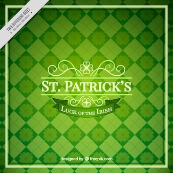 Green background of saint patrick's rhombuses
