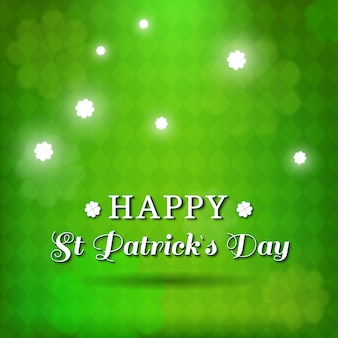 Green background with diamonds for st patrick