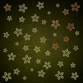 Green background with golden flowers