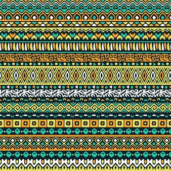 Green background with tribal pattern