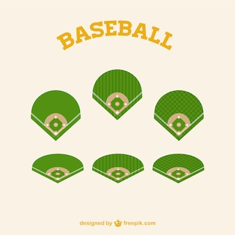 Green baseball fields parts
