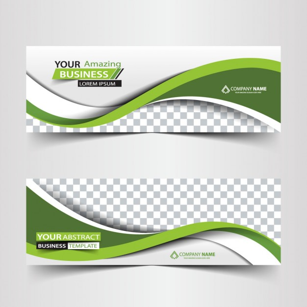 Green business abstract header