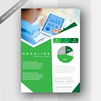 green business flyer vector