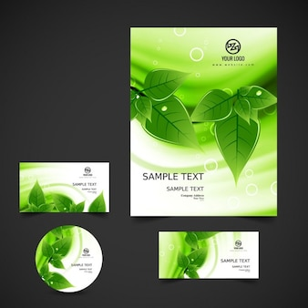 Green business stationery