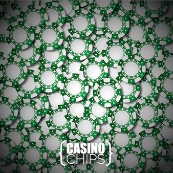 Green casino chips background