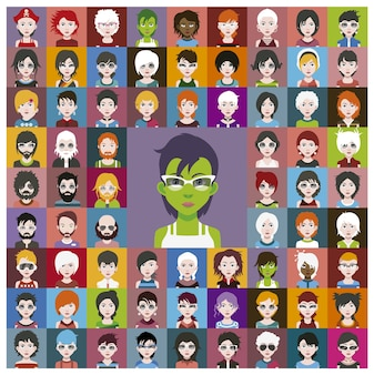 Green characters collection