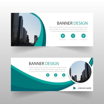 Green circle abstract banner template design