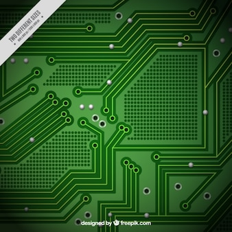 Green circuit background
