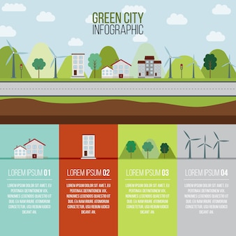 Green city infography