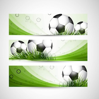 Green color football headers