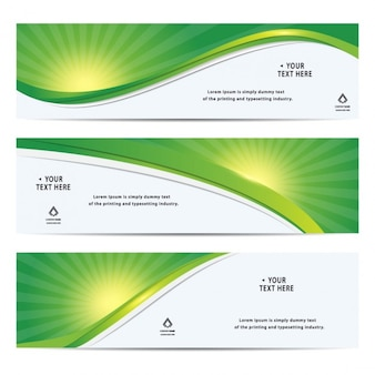 Green corporate banners