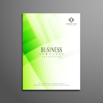 Green corporate business brochure design
