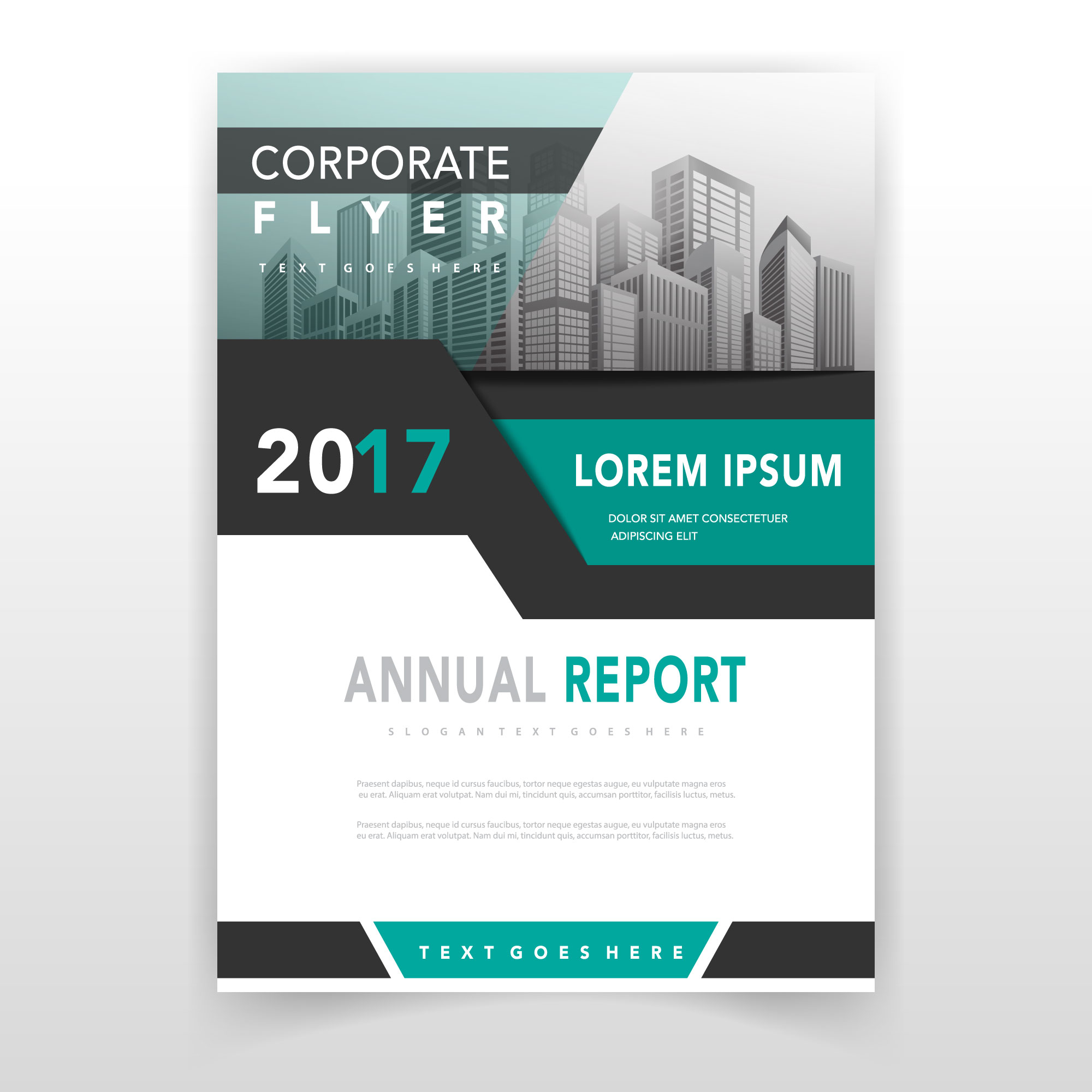 Green cover annual report template