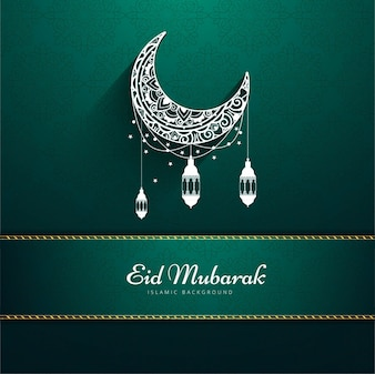 Green design for eid mubarak