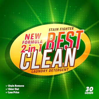 Green detergent template
