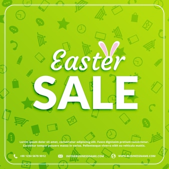 Green discount card for easter