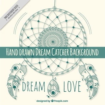 Green dream catcher background