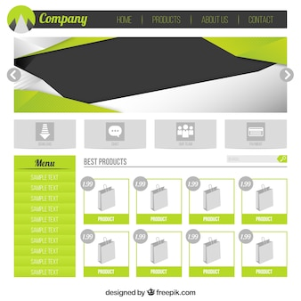 Green e-commerce web template