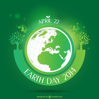 Green Earth Day card