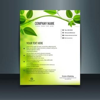 Green eco letterhead
