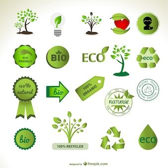 зеленой массы векторных элементов