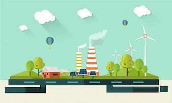 Green energy background design