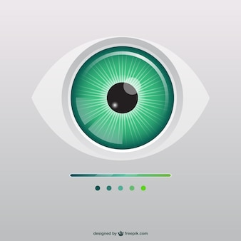 Green eye illustration