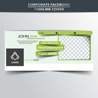 Green facebook timeline cover