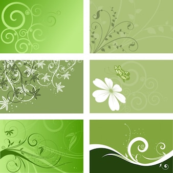 Green Floral Backgrounds