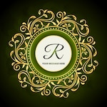 green floral hotel brand background