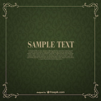 Green floral vector frame template
