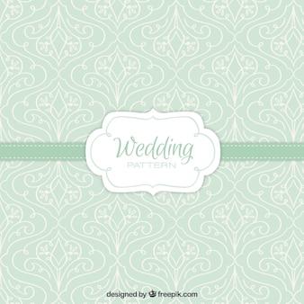 Green floral wedding pattern