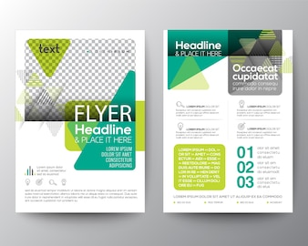 Green flyer layout template