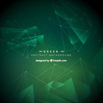 緑色の幾何学的背景