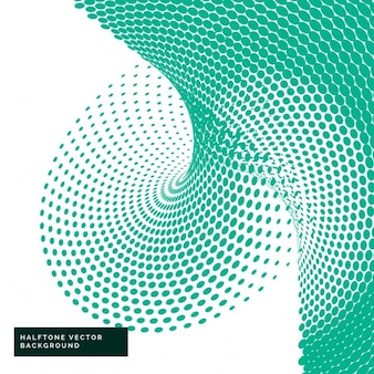 Green halftone dots in abstract style