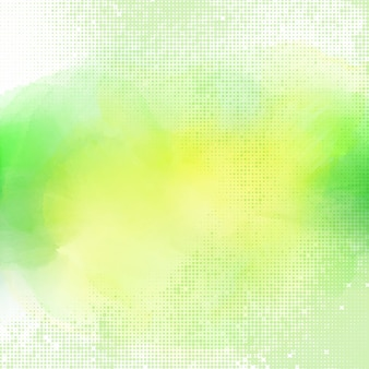 Green halftone watercolor background