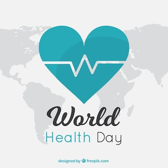 Green heart background for world health day