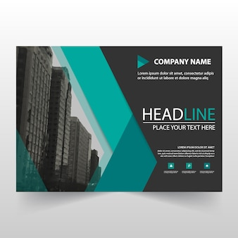 Green horizontal business flyer template