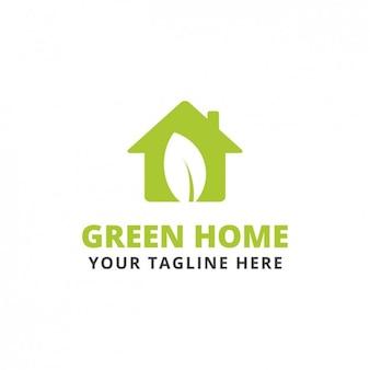 Green house shape logo template