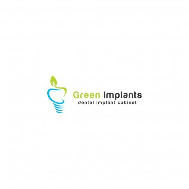 Green implants logo template