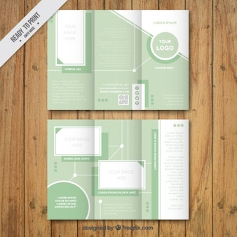 Green infographic trifold brochure