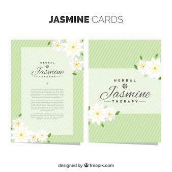 Green jasmine cards