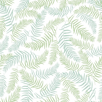 Green leaves pattern background