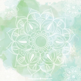 Green mandala background