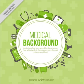 Green medical background